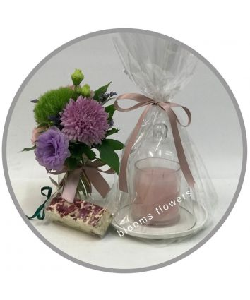 Triple Scented Candle & Cloche Gift Set