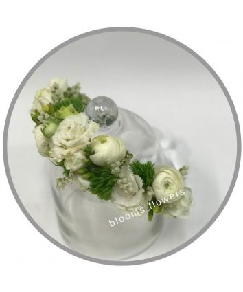 Floral Crown - Full Classic White