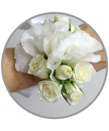 Wrist Corsage - Rose & Lisianthus