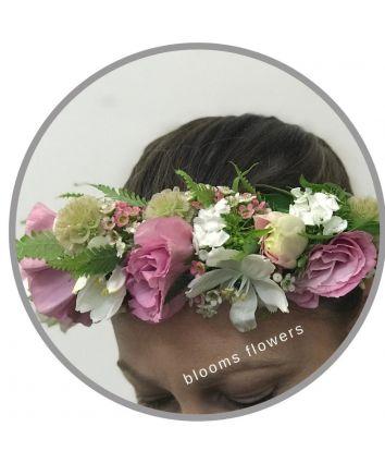 Floral Crown - Half Classic Pink