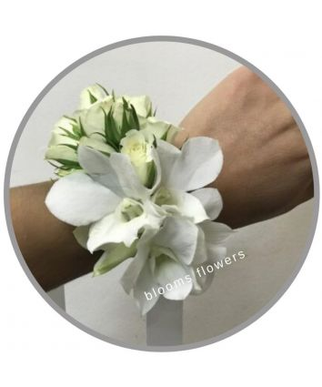 Wrist Corsage - Rose & Orchid