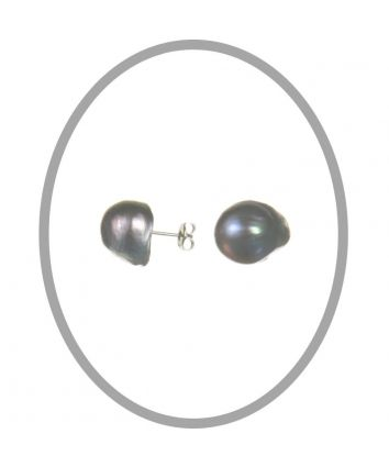Baroque Freshwater Silver Pearl Studs